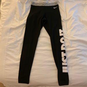 Nike dri fit fleece lined pant legging